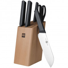 Xiaomi Huo Hou Fire Kitchen Steel Knife Set с подставкой (6 предметов)